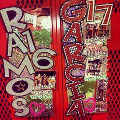 Locker decorations Football Locker Signs, Volleyball Locker Decorations, Soccer Locker, School Locker Decorations, Softball Decorations, Volleyball Ideas, Football Posters, Nba Basketball, Classroom Decor