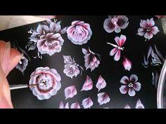 dạy vẽ móng nail, học nail tại nailstart, vẽ cọ bản nâng cao - YouTube