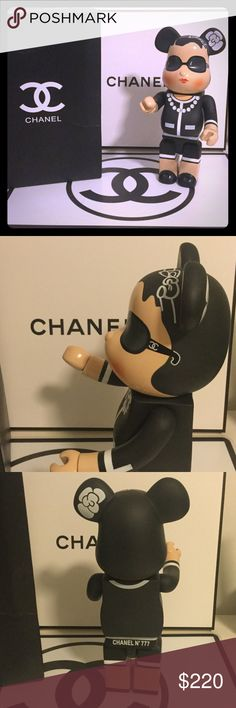 Chanel Bearbrick VIP Collectible Chanel Bearbrick doll. *Not the large one that sells for $10,000!* This is the Gifts collection version. Stands about 11 inches tall. She sits as well. New in box. Box not in perfect condition. CHANEL Accessories Glasses