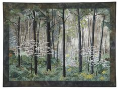 Beginning landscape Quilting Natalie Sewell and Nancy Zieman/Dogwoods by Natalie Sewell