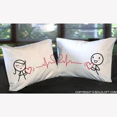 BoldLoft Love You with Every Beat of My Heart ™ Couple Pillowcases – Perfect anniversary gifts for couples. Cotton anniversary gifts for him and her. Let Me Love You, Just For You, Cotton Anniversary Gifts For Him, Couple Pillowcase, Long Distance Relationship Gifts, Boy Meets Girl, Clothes Crafts, Couple Gifts, Girl Gifts