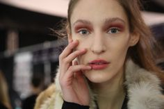 """At the BCBG runway show OPI was part of the glam look. Models wore """"passion"""" to complement the collections warm muted pastels."""