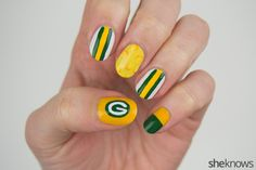 The ultimate fan's Green Bay Packers nail art tutorial