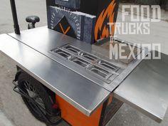 Baño frío con 6 insertos de policarbonato. El Tizne. Food Trucks de México.