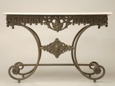 Antique Bakers Or Pastry Table
