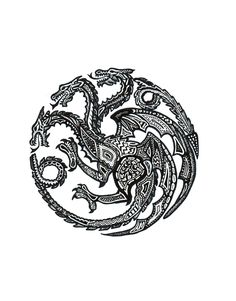 Stylized House Targaryen Sigil.... If I was feeling clever