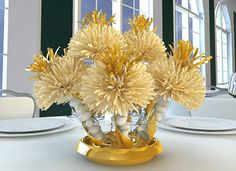 50th Anniversary Party Ideas On A Budget | Anniversary Centerpieces and Party Favors; Anniversary Decorations for ...