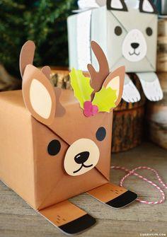 adorable animal gift wrap