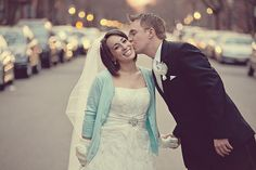 wedding photo in the street