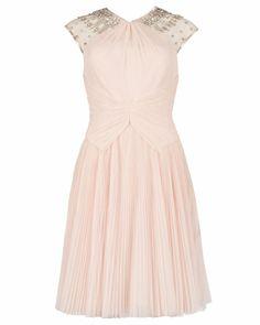 ARETIA - Beaded dress - Nude Pink | Womens | Ted Baker ROW