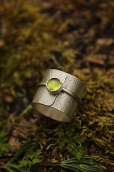 Sterling silver ring. Handmade in my workshop in France. Inspired by leaf of the forest.   One of kind its a touch of nature in your finger.  A