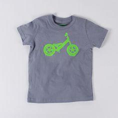 BALANCE BIKE 2T T-shirt Neon Green on Slate Gray Toddler by vital