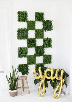 DIY Greenery Wall