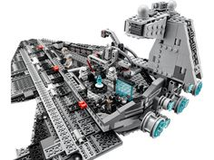 #LEGO #StarWars Imperial Star #Destroyer Set Use the seven powerful blue engines to speed through the galaxy with the LEGO Star Wars Imperial Star Destroyer Set.