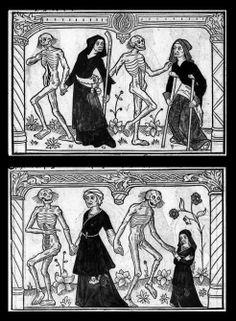 Danse macabre Medieval Drawings, Medieval Art, Memento Mori Art, La Danse Macabre, Dance Of Death, Late Middle Ages, Skeleton Art, Arte Horror, Vanitas