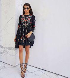 Floral embroidered Zara dress