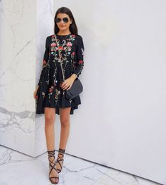 Floral embroidered Zara dress