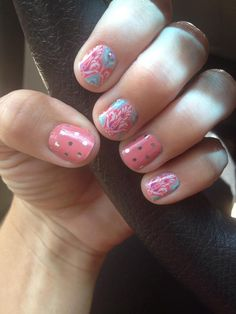 Faded Deco and Icy Rose Polka #Jamberry #Fashion #Pretty