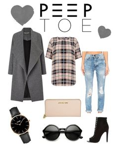 """""""Peep toe"""" by amela-meredith ❤ liked on Polyvore featuring Miss Selfridge, Etienne Marcel, Equipment, River Island, Michael Kors and CLUSE"""