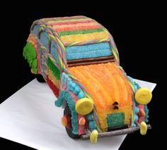 2cv en bonbons Marshmallow, Fathers Day, Buffet, Lunch Box, Presentation, Creations, Candy, Desserts, Truck