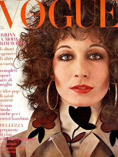 Italian Vogue-February 1971 by Fashion Covers Magazines, via Flickr Angelica Huston in Valentino.