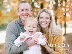 """Erin & Matt: """"We keep busy, but even with our busy schedules, we know that cooking meals for our family is important and is a priority."""" 