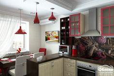 Дизайн кухни 14м2