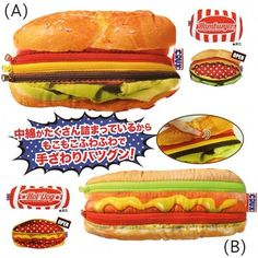 "Crux 7.7"" Junk Food Pouch: Hamburger And Hot Dog"