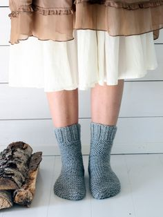 Lättstickade strumpor på två stickor Novita Isoveli | Novita knits