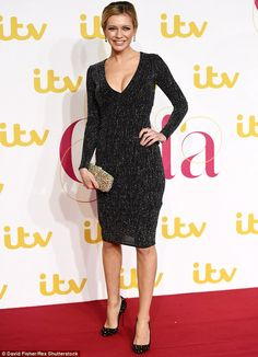 Rachel Riley puts on a busty display in low-cut dress at ITV Gala Rachel Riley Legs, Racheal Riley, Katherine Jenkins, Low Cut Dresses, Ceremony Dresses, Holly Willoughby, Sexy Legs And Heels, Tv Presenters, Great Legs