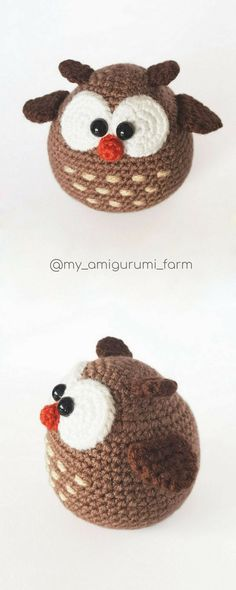 Cute crochet animals, amigurumi patterns #amigurumi #crochet #pattern #cuteanimals #etsy #pdfpattern #crochetpattern #amigurumipattern #häkeln #ganchillo #kroşe #crochê#crochetideas #crochetaddict #crochetlove #easycrochet #crochetowl #amigurumiowl #owl #crochetbird #birds