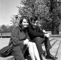Elżbieta Czyżewska and David Halberstam