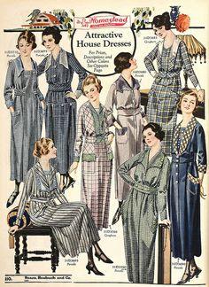 "1920 Sears ""Homestead"" gingham house dresses"