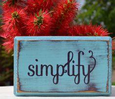 Simplify custom wood sign wall art aqua purple small by CSSDesign, $10.00