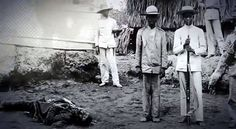 ANTONIO LUNA; this is a rare photograph of the dead General Antonio Luna & Array of Murdered Heroes by Fellow Filipinos