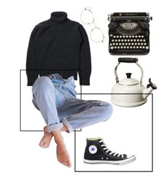 """Untitle"" by anhajin on Polyvore featuring Le Creuset, RetroSuperFuture and Converse"