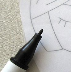 Sulky Iron On Transfer Pens.    Finally, a transfer pen that easily transfers designs onto fabric, canvas, wood or just about any surface where a hot iron can be used. The permanent, non-bleeding, ink glides on like a marker to make transfers for fabric painting, original art, applique, embroidery, labeling quilts  clothing, tole painting, needlework and punch needle.
