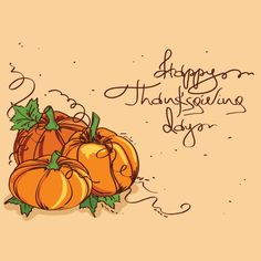 Free vector Pumpkin clip art on Happy Thanksgiving Day Card 28 - November - Thanksgiving Day
