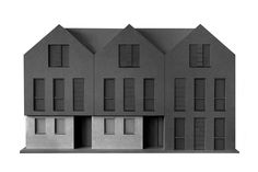 Haddo Yard – Whitstable Approaches Brick Architecture, Architecture Graphics, Architecture Drawings, Residential Architecture, Architecture Models, Townhouse Designs, Fibreglass Roof, 3d Modelle, Student House
