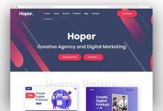 Hoper - Startup Business and Digital Marketing WordPress Theme Corporate Business, Start Up Business, Creative Business, Seo Digital Marketing, Online Marketing, Seo Agency, Marketing Training, Creative Portfolio, Wordpress Theme