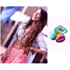 Sana Saeed looks gorgeous in ShopViollas azure ring by jewellery by astha Jagwani.