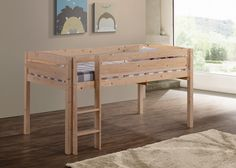 Canwood Furniture Whistler Junior Twin Loft Bed with Built-In Ladder & Reviews | Wayfair