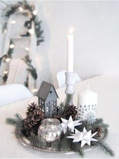 Shabby Chic Nordic Style Rader White Porcelain Christmas Candle Holder Bag