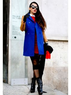 Love her style she was spotted with streetstyle By the Paris fashion week