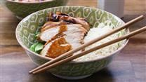 Grilled Asian Chicken Recipe - quick, easy and the kids ate it :) served with brown rice & bok choy slaw