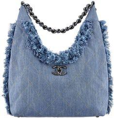 Chanel Pre-Spring Summer 2015 Seasonal Bag Collection – My Pin Denim Handbags, Chanel Handbags, Handbags On Sale, Primavera Chanel, Bag Women, Denim Purse, Chanel Spring, Clothes Crafts, Purse Patterns