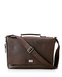 Denver by Buffalo Jackson Full Grain Bison Leather Messenger Bag for Men Dark Briar w//Orange Fits 13 14 15 Laptop