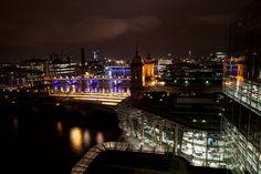 London's evening skyline