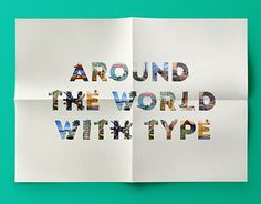 """Check out new work on my @Behance portfolio: """"Around the world with Type"""" http://be.net/gallery/38122175/Around-the-world-with-Type"""