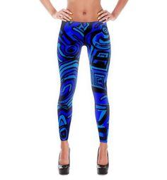 Leggings Blue Symbols – LUDOWORLD
